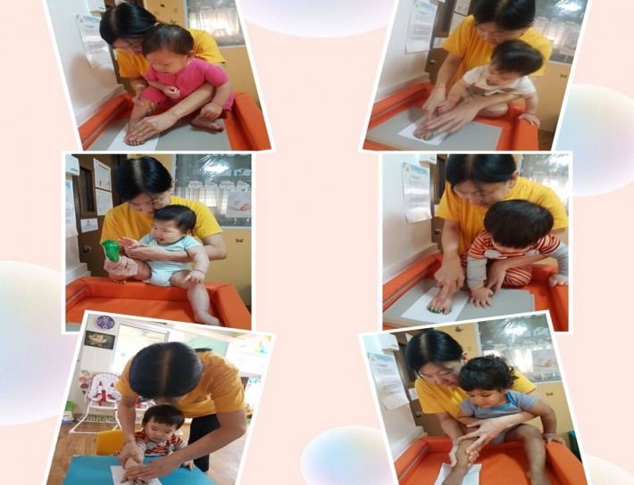 Hand and foot printing activity