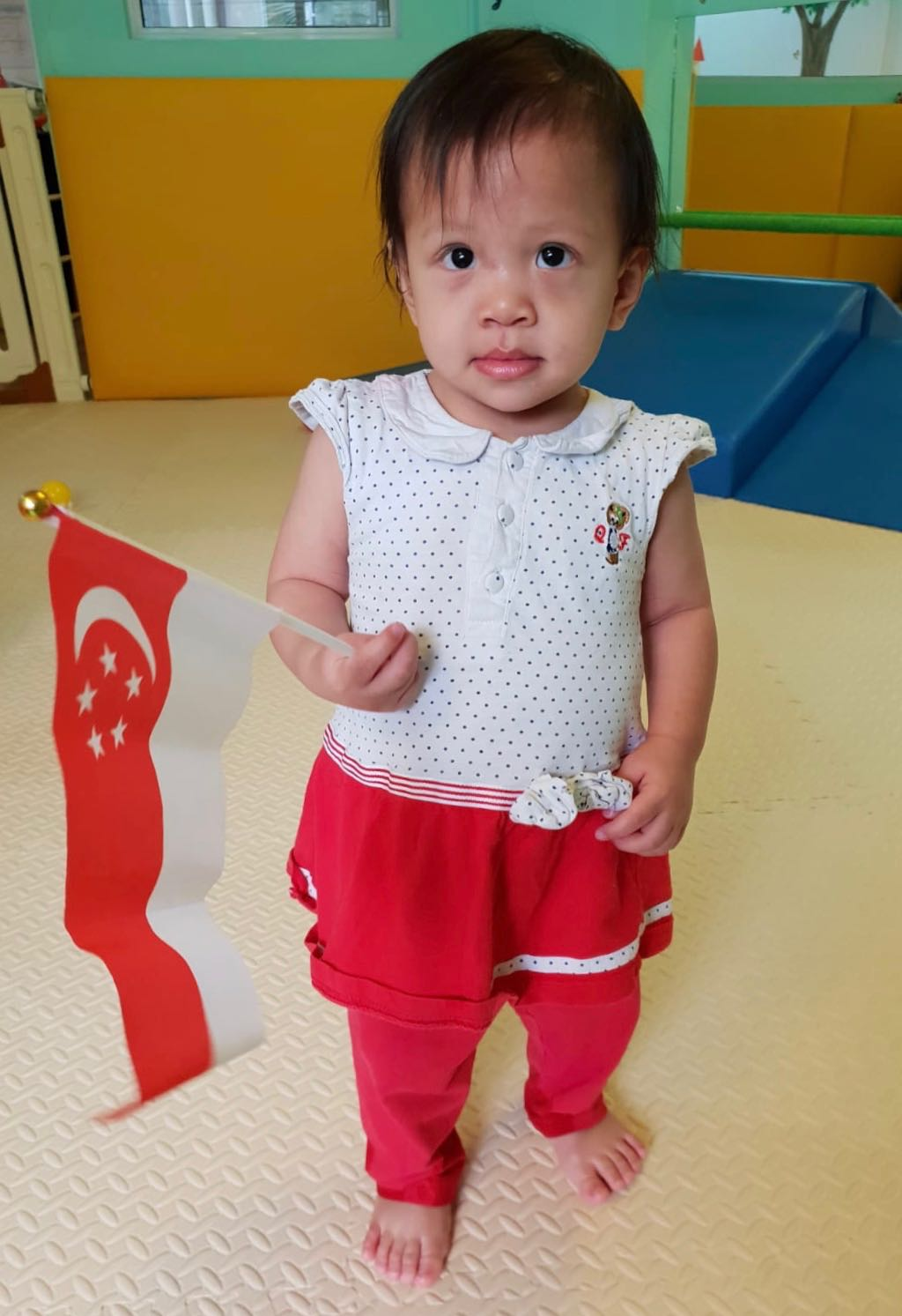 Infant with National Flag